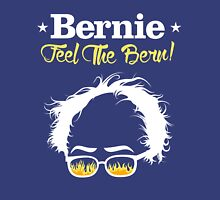 Bernie Hair Shirt with Flaming Sunglasses - Feel The Bern Unisex T-Shirt