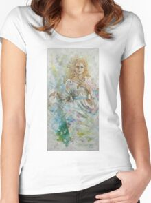 Tryptich The three Norns - Urd Women's Fitted Scoop T-Shirt