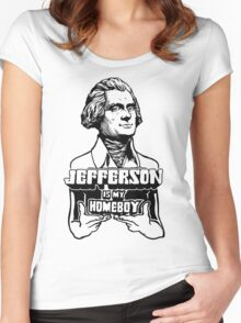 Jefferson Is My Homeboy Women's Fitted Scoop T-Shirt