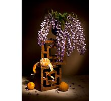 Wisterias and Tangerine Still life Photographic Print