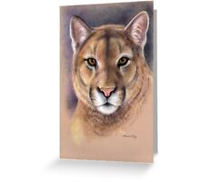 "Mountain Lion ""Raja"" Wild At Heart Series by Maureen Shelleau Greeting Card"