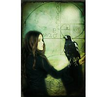 Girl with Magpie Photographic Print