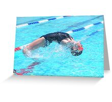 Wet and Wild Action Greeting Card