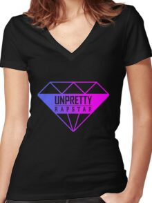 Unpretty Rapstar Logo Women's Fitted V-Neck T-Shirt