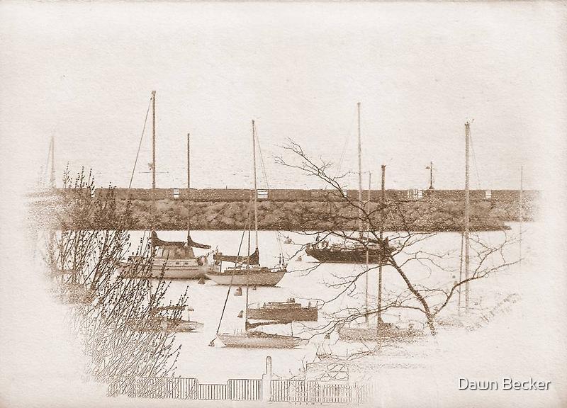 Lake Michigan Dock ©  by Dawn M. Becker