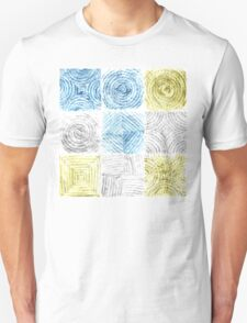 Astract hand drawn watercolor pencil seamless pattern  T-Shirt