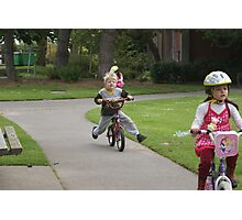 Children and Bicycles Photographic Print