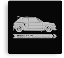 Rally Legends - Peugeot 205 T16 Canvas Print