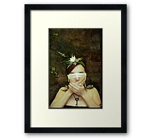 Girl with Toads Framed Print