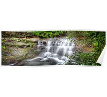 Waterfall In Motion Panorama Poster