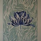 'Dutch fair' tulip in blue/turquoise by Bert  Aperloo