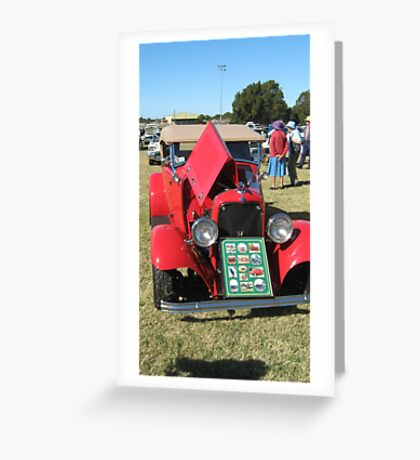 Ford Hotrod. Greeting Card