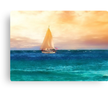 Sailing in the Sunset Canvas Print