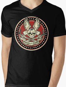 Brush With Death Shirt Mens V-Neck T-Shirt