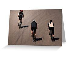 Three Cyclists Greeting Card
