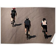 Three Cyclists Poster