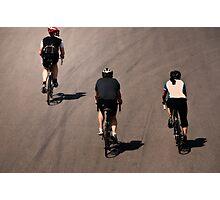 Three Cyclists Photographic Print