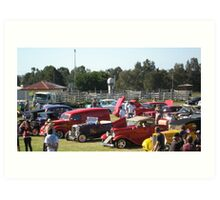 A Collection of Hot Rods. Art Print