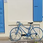 Blue bike by Carol Dumousseau