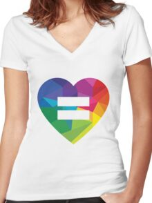 Marraige Equality Heart Women's Fitted V-Neck T-Shirt
