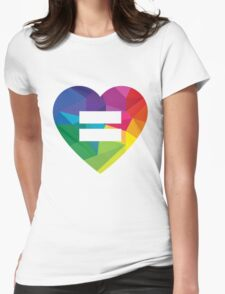 Marraige Equality Heart Womens Fitted T-Shirt