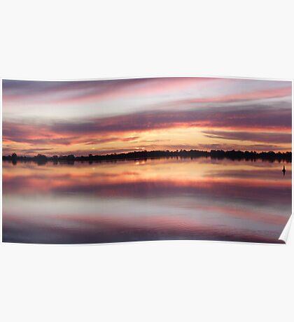 lake bonney sunset1sw Poster