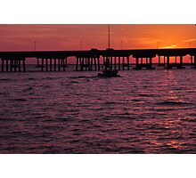 Laishley Pier Sunset, As Is Photographic Print