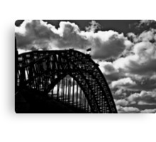 Clouds, lines, steel, and me someday...: On 2 Featured Works Canvas Print