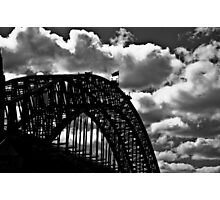 Clouds, lines, steel, and me someday...: On 2 Featured Works Photographic Print