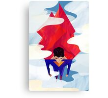 Hero in clouds Canvas Print