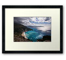 Myrtos Beach in Kefalonia Framed Print