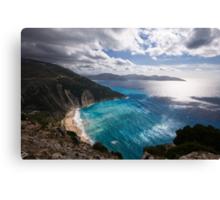 Myrtos Beach in Kefalonia Canvas Print
