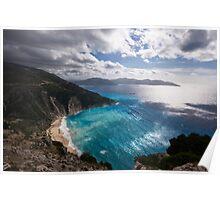 Myrtos Beach in Kefalonia Poster