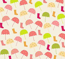Umbrellas and Boots by Cristina Bianco Design