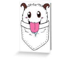 Poro Pocket - League of Legends Greeting Card