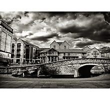Nottingham Canal b&w  Photographic Print