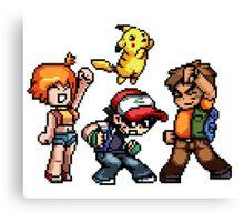 64 bit pokemon Canvas Print