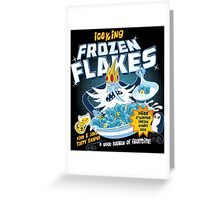 Frozen Flakes Greeting Card