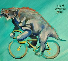 Scutosaurus on a Bicycle by Ellen Marcus