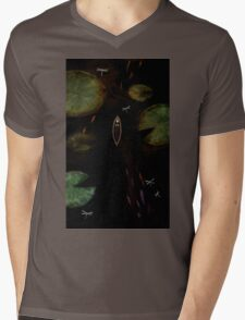 black lake Mens V-Neck T-Shirt