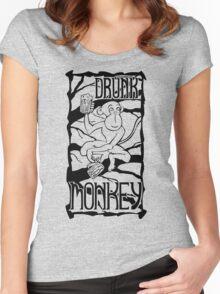 Drunk Monkey Women's Fitted Scoop T-Shirt