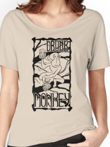 Drunk Monkey Women's Relaxed Fit T-Shirt