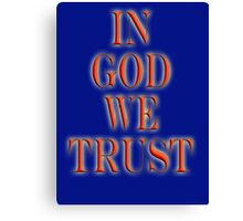 GOD, AMERICA, In God we trust, American, Religion, Official Motto, USA Canvas Print