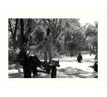 Horse Cart Riding !! - Indian Highways Art Print