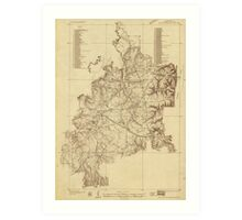 Shiloh National Military Park Tennessee Map (1934) Art Print