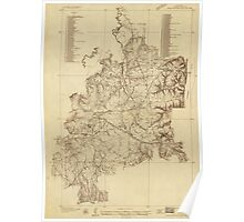 Shiloh National Military Park Tennessee Map (1934) Poster