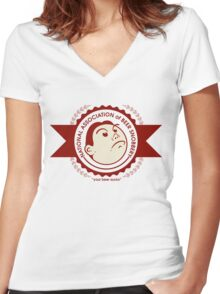 The National Association of Beer Snobbery Women's Fitted V-Neck T-Shirt