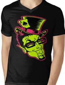 Cartoon Face Mens V-Neck T-Shirt