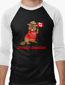 Proudly Canadian Men's Baseball ¾ T-Shirt