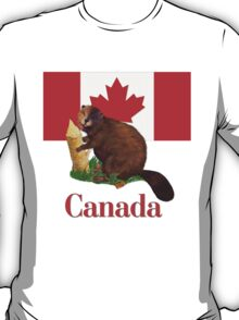 Canadian Flag and Beaver T-Shirt